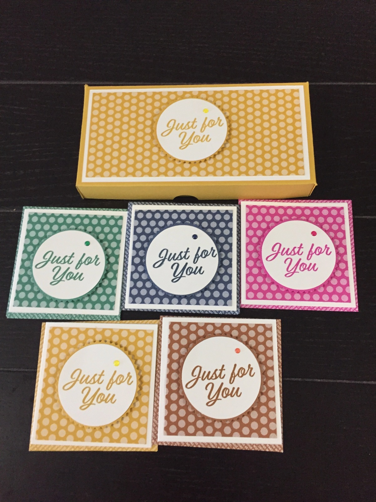 Gift box thank youcards